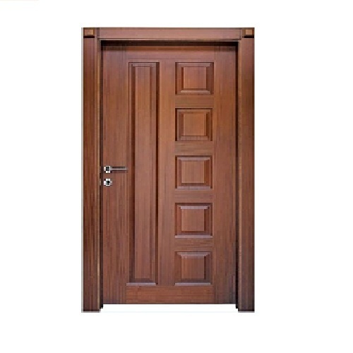 Brown Hardwood Wooden Door