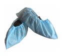 Green, Blue And White Plastic(latex) Shoes Cover, For Hospital