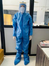 85- 90 Gsm Full Body PPE Kit With Face Shield
