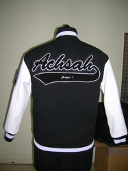 Black Body With White Sleeves Winter Jacket