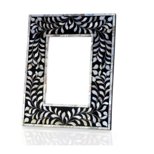 Black Mother Of Pearl Mirror Frame