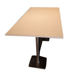 SS And Wooden Stainless Steel Rectangle Table