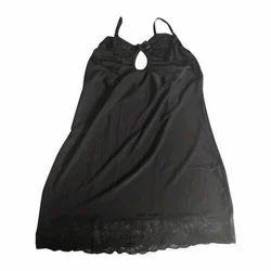 Black Sensual Slit Cut Sheer Transparent One Piece Long Nighty 3d162365f
