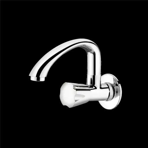 Brass Wall Flange Swinging Sink Cock