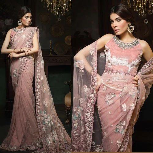 5a73fb4792 Net Ladies Saree, Length: 6.3 M, Rs 2500 /piece, Saba Fashions | ID ...