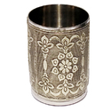 Silver Antique Worked Drinking Glass, Size: 200ml