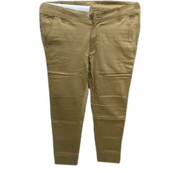 Cotton Casual Wear Men Chinos Trousers, Size: 28-32