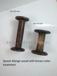 Mango Wood Spools