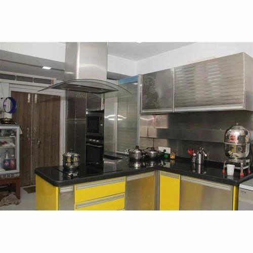 Stainless Steel Modular Kitchen Set