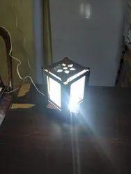 Brown Rectangle LED Backlit Photo Frame