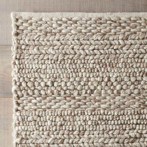 Off White And Brown Hand Woven Rugs Hy Exports