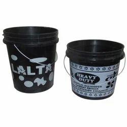 Black Plastic Paint Bucket