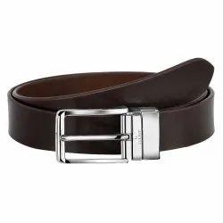 Branded Elliot Single Side Leather Belt