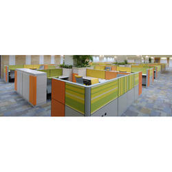 BN Interiors Aluminium L Shaped Workstation, For Corporate Office