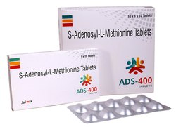 ADS-400 S-Adenosylmethionine 400 mg Tab, Packaging Size: 10x1x10