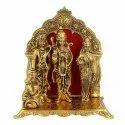 Gold Plated Ram Darbar Frame Statue