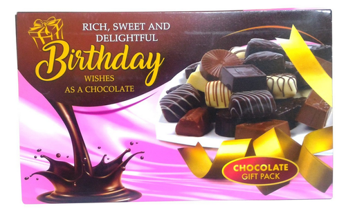Multicolor Chocolate Box Themed Birthday Greeting Card