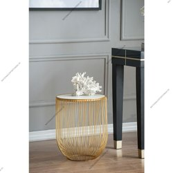 Metal Wire Round Table For Decor