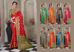 Red Color Designer Cotton Silk Chitt Pallu Saree