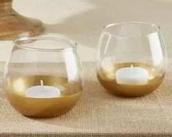 Gold Plated Glass Cotive, for Home