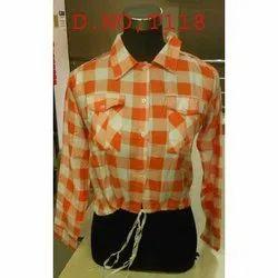 Cotton Check Ladies Designer Shirt