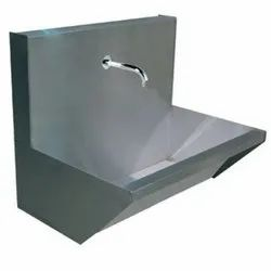 Silver Color SS Hand Wash Sink