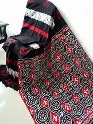 Cotton Pink Hand Work Sarees, Length: 6.3 m