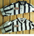 F 20 Cotton Twill Black And White Stripes Shirts