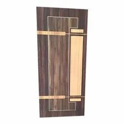 Polished Brown Decorative Plywood Door, Thickness: 30 Mm