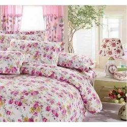 Pink Rose 3D Double Bed Sheets
