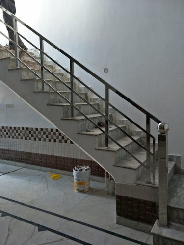 Jindal Silver Stainless Steel Railing, Material Grade: Ss 304
