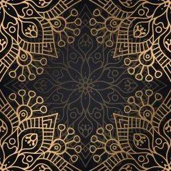 Mandala Pattern Designs Printed Fabric