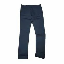Navy Blue Casual Wear Mens Designer Cotton Pants, 28-36