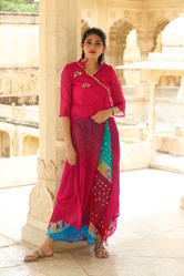 Lahariya Georgette Front Cut Open Pattern Kurtis