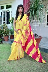Cotton Printed Sanganeri Saree, Length: 6 m