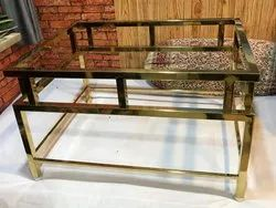 Stainless Steel Gold Metal Furniture (Table Frame), For Construction
