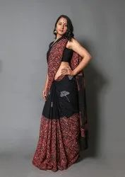 Cotton Leaves Print Saree