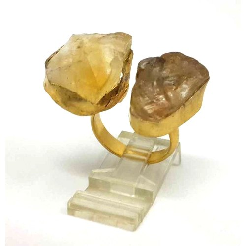 Rough Gemstone Gold Vermeil Stacking Ring