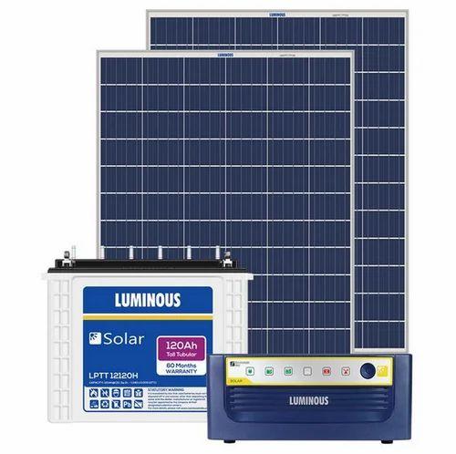 Luminous 650 Va Off Grid Solar System