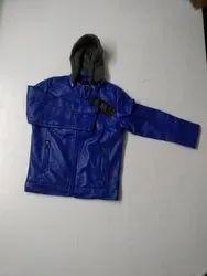 Lokenath Boys & Girls Blue Kids Leather Jacket