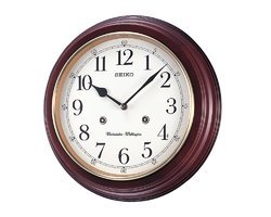 Brown Wood Seiko Wall Clock, Size: 31.4cm X 31.4cm X 6.1cm, Packaging Type: Box Packing