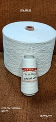 Lky Raw 2/20 Polyester Spun Yarn Optical White 20/2, For Textile Industry