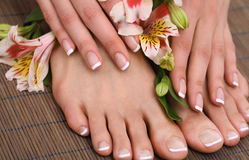 French Manicure And Pedicure Service