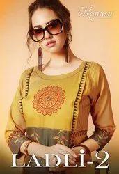 Ladli Vol-2 New Stylish Rayon With Fancy Printed Designer Kurtis