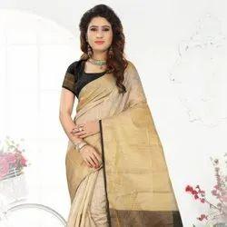 India Chanderi Silk Saree