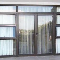 Toughened Glass Rectangular UPVC Hinged Door,  Glass Thickness: 5 Mm,  Door Location: Exterior