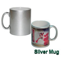 Glitter Silver Mug, Packaging Type: Box