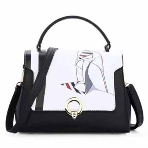 4b38c36894a Black & White Leather Ladies Side Bag, Rs 450 /piece, Galaxy Digital ...