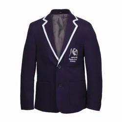 Blue And White Full Sleeves Boys Woolen Blazer