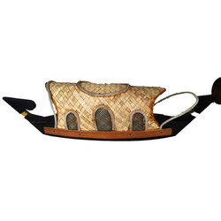 Wooden Carving Handicraft Boat, Weight: 360 kg
